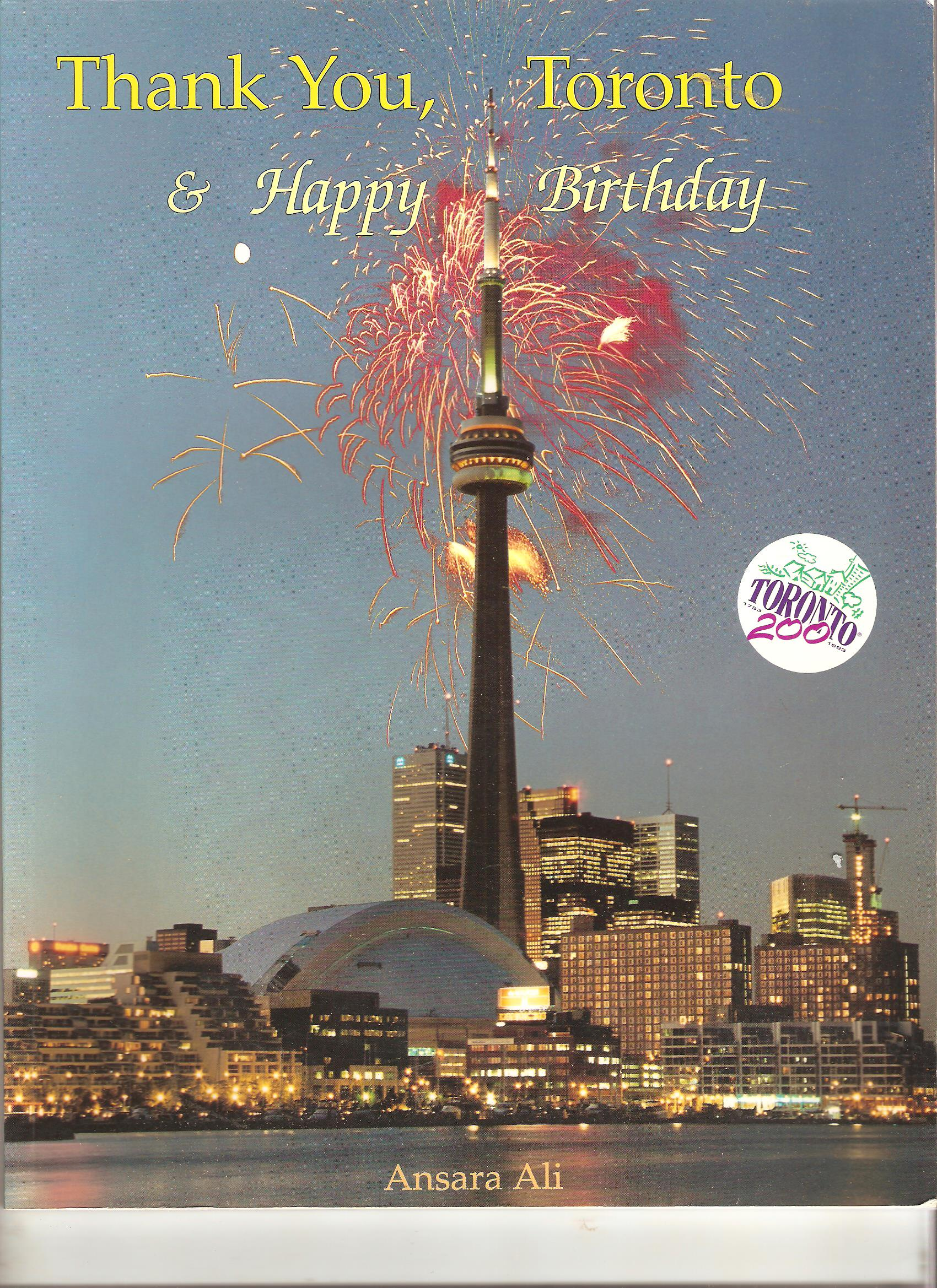 Image for Thank You, Toronto and Happy Birthday