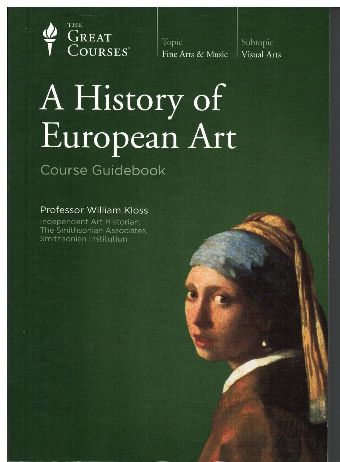 Image for A History of European Art - Course Guidebook
