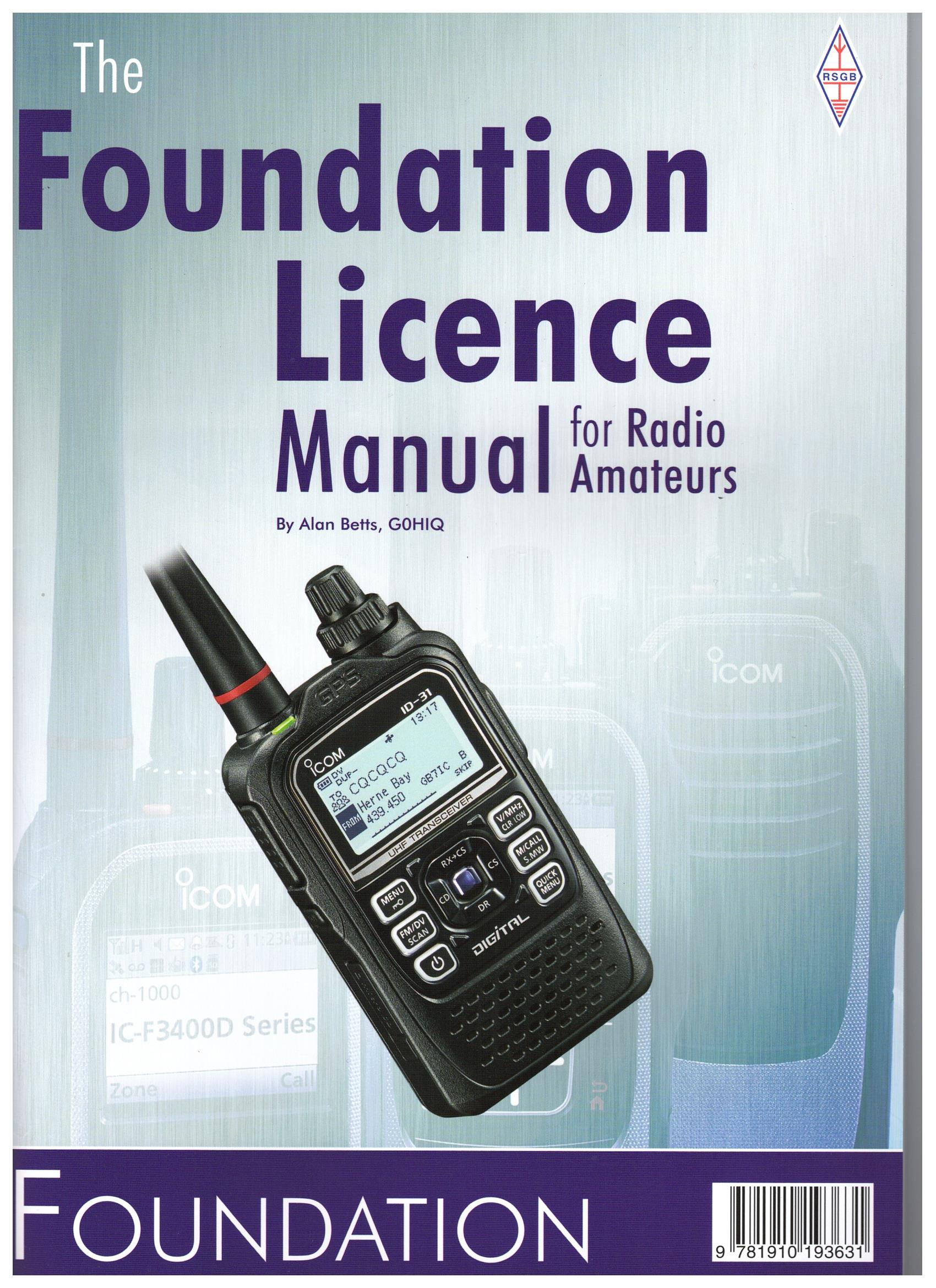 Image for The Foundation Licence Manual for Radio Amateurs